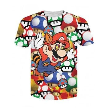 Super Mario party nes switch Women/Men Cartoon 3D Fashion  on Shrooms T-Shirt tee 's psychedelic drug chew the magic mushrooms T Shirts Tees AT_80_8