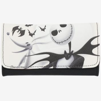 Licensed cool Disney The Nightmare Before Christmas Jack Zero Dog White Flap Wallet Loungefly