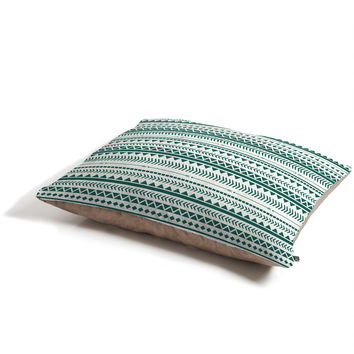 Allyson Johnson Teal Aztec Pet Bed