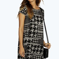 Dana Oversized Dogtooth Shift Dress