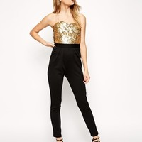 ASOS Jumpsuit With Sequin Bodice at asos.com
