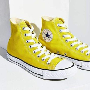 CREYUG7 Converse' Fashion Canvas Flats Sneakers Sport Shoes Yellow G