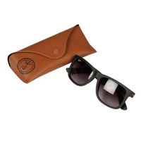 Ray Ban Justin Sunglasses in Matte Black | at Aphrodite Clothing UK