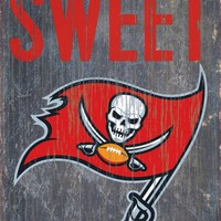 """Tampa Bay Buccaneers Wood Sign - Home Sweet Home 6""""x12"""""""