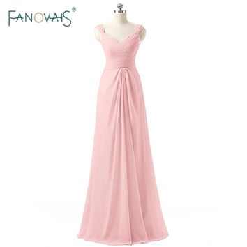 Many Colors Pearl Pink Lilac Sky Blue Bridesmaid Gowns Wedding Prom Dress Party Dresses Cheap Long Bridesmaid Dresses ASAB38