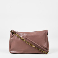 "Louis Vuitton Rose Pink Leather ""Cuir Boudoir MM"" Pochette Shoulder Bag,gift ideas Accessories Novelty"
