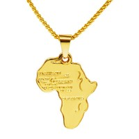 Jewelry New Arrival Stylish Gift Shiny Pendant World Map Hip-hop Accessory Necklace [10210219203]