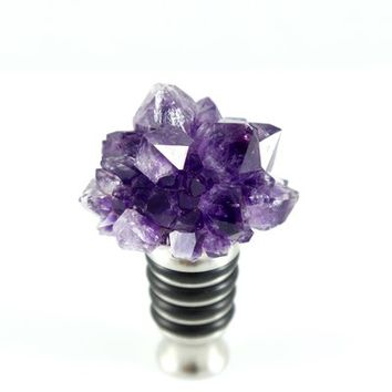 Amethyst Cluster Bottle Stopper