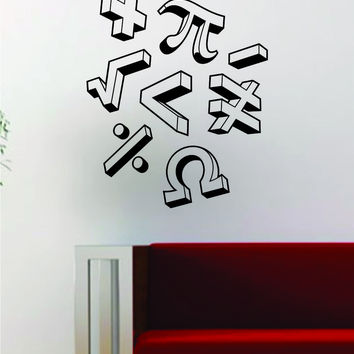 Math Symbols Decal Wall Vinyl Art Decor Room School Educational Teacher College