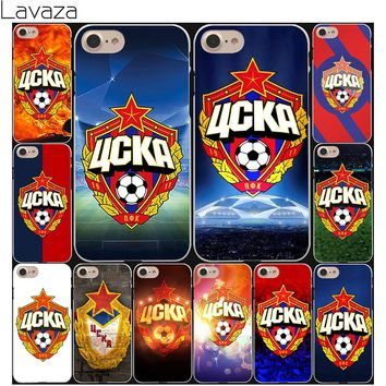 Lavaza Russia PFC CSKA Moscow logo Hard White Coque Shell Phone Case for Apple iPhone 8 7 6 6S Plus 5 5S SE 5C 4S X 10 Cover