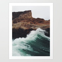 Montaña Wave Art Print by Kevin Russ