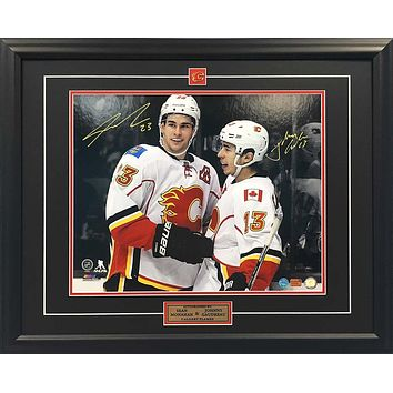 SEAN MONAHAN AND JOHNNY GAUDREAU AUTOGRAPHED FRAMED COLLECTOR PHOTO - 16X20