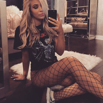 Fashion Black Fishnet Stockings