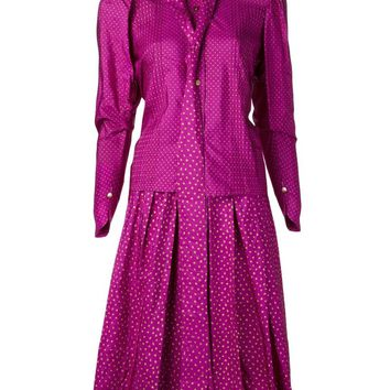 Yves Saint Laurent Vintage heart print skirt suit