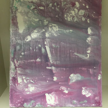 Purple Abstract, Acrylic Painting, Poured Paint, Modern Art, Purple Wall Art, Contemporary Art, Abstract Painting, Original Art, Canvas Art