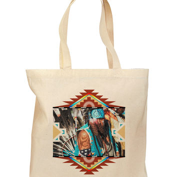 Native American Dancer 2 Grocery Tote Bag - Natural