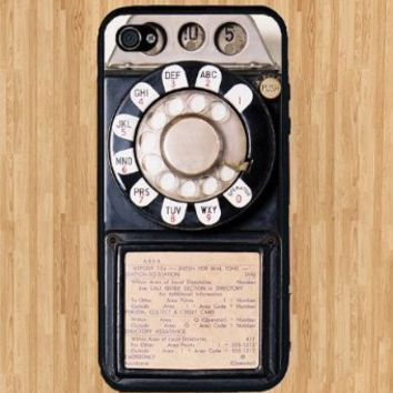 Iphone 5, Iphone 5s Vintage Rotary Payphone Case, Awesome Retro Look.