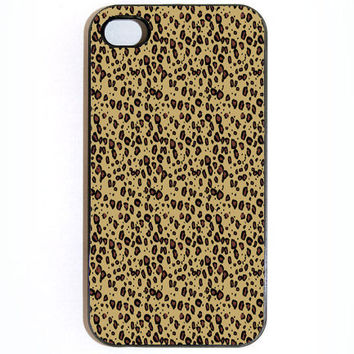iPhone 4 4s Leopard Hard iPhone Case Comes in Black by KustomCases