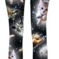 Cute Space Kitten Ladies Leggings - Medium
