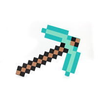 """Hot-selling"" Minecraft toy Minecraft diamond foam pickaxe Official Blue Color 1pcs In Stock Same day free shipping!!"