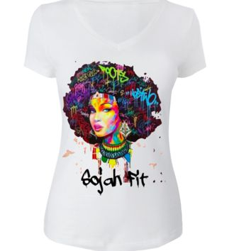 Sojah Fit Color Me Afro T-shirt