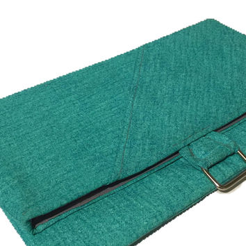 Teepetals Teal Evening out clutch