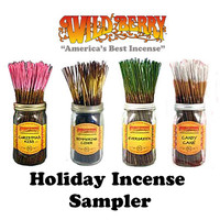 WildBerry Incense - Holiday Incense Sampler (20 Incense Sticks)
