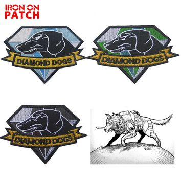 Embroidered Patch Diamond Dogs Metal Gear Solid MGS Morale Patch Tactical Applique Emblem Badges for clothes military patch