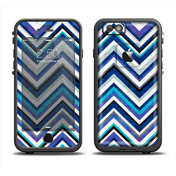 The Vibrant Blue Sharp Chevron Apple iPhone 6 LifeProof Fre Case Skin Set