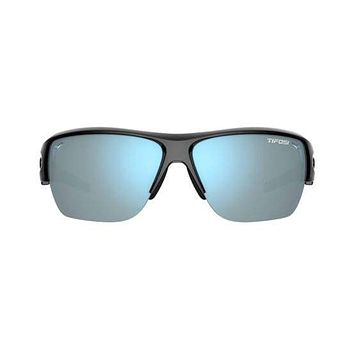 Tifosi - Elder Sl Gloss Black Sunglasses / Smoke Bright Blue Lenses
