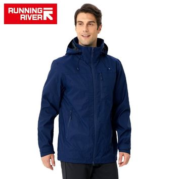 RUNNING RIVER Brand Men Hiking Jacket 4 Colors Size 46 - 56 High Quality Waterproof Windbreaker For Man Outdoor Clothes #K8368