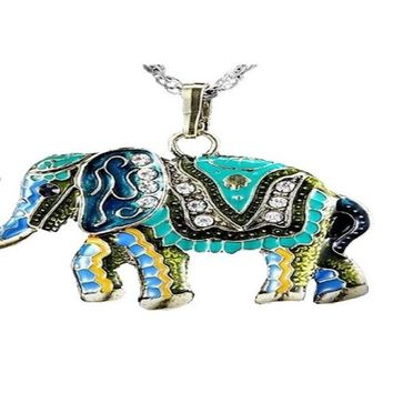 Vintage Retro Unique Elephant Pendant Exquisite Necklace