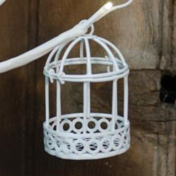 White Wire Birdcage - *FREE SHIPPING*