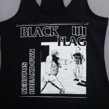 Nervous breakdown racer back tank top.