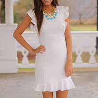 The Right Places Dress, White