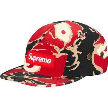 Supreme Tiger Camo Camp Cap - Red Camo