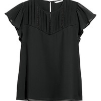 Blouse with pin-tucks - Black - Ladies | H&M GB