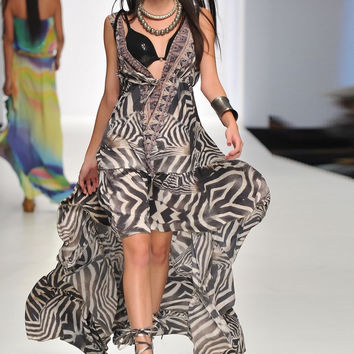 Parides Safari Print Silk Dress - Limited Edition