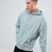 ASOS DESIGN oversized hoodie in gray at asos.com