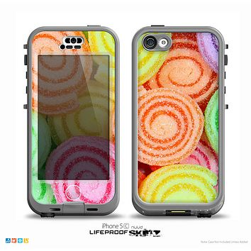 The Colorful Candy Swirls Skin for the iPhone 5c nüüd LifeProof Case