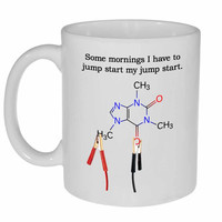 Jump Start My Caffeine Funny Coffee Mug
