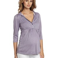 Everly Grey Women's Maternity Perry 3/4 Sleeve Nursing Hoodie