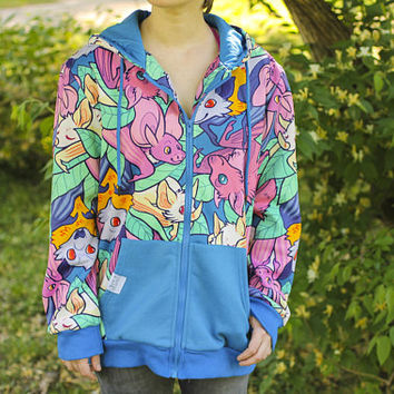 All Over Patterned Bat Hoodie