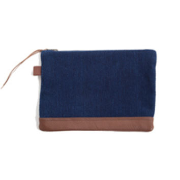Kiriko Japanese Cotton Clutch (Indigo)