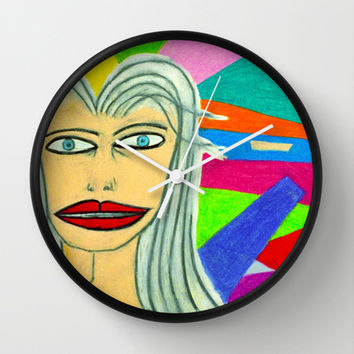 Celestial lady Wall Clock by Bruce Stanfield