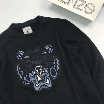 KENZO Fashion Tiger head Pullover Tops Sweater I-A-XYCL