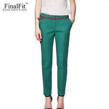FinalFit Pencil Casual Pants Women Spring Summer Autumn Suit Pants Trousers Women Pantalon Mujer