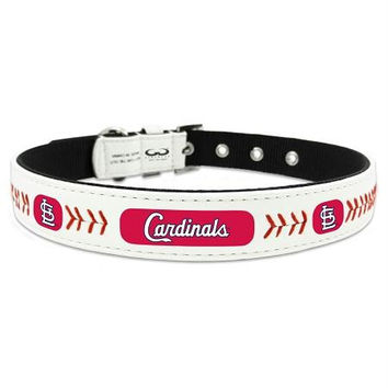 St. Louis Cardinals Classic Leather Large Baseball Collar