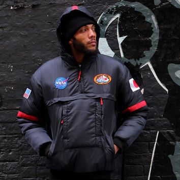 "NASA ""Flight"" Astronaut Down Ski Jacket in Black"