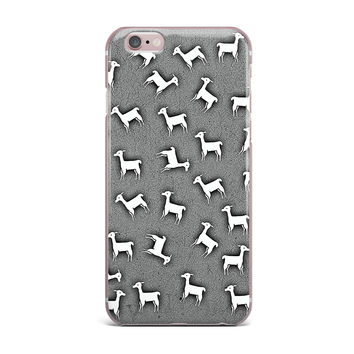 "Monika Strigel ""Llama Multi"" Gray iPhone Case"
